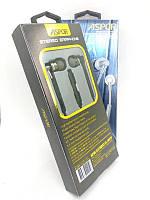 Гарнітура Aspor A205 (круглий шнур,мікрофон) Black/grey