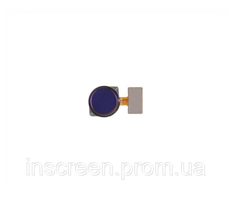 Шлейф (кабель) Xiaomi Redmi 7, Redmi Note 7, Redmi Note 7 Pro, Note 7S с сканером отпечатка пальца, синего