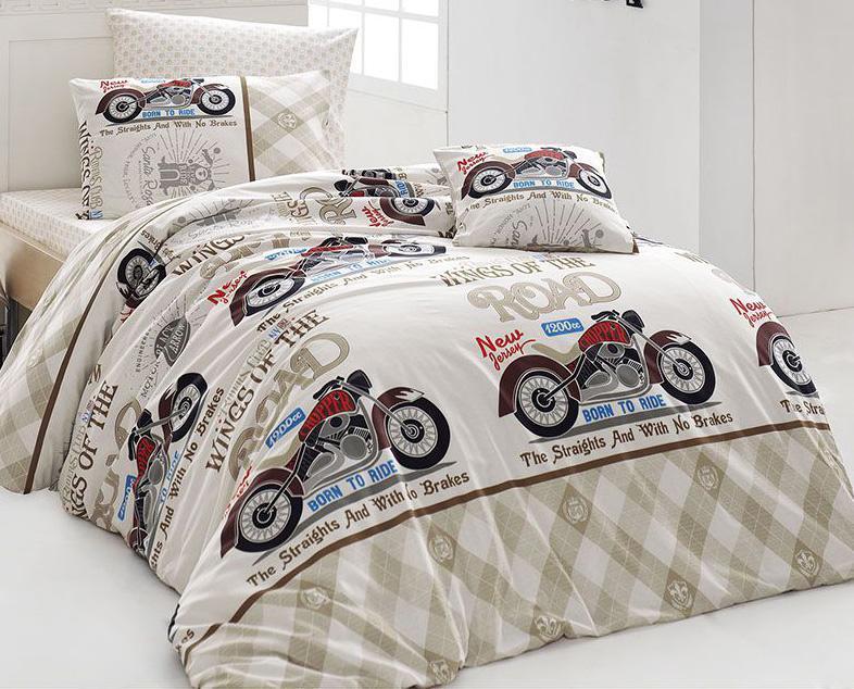 Комплект постельного белья Nazenin Bike (полуторный), ранфорс