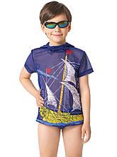 Детская футболка от сгорания для мальчика Nirey Италия BFX101506 Синий 128-134, Детская футболка от сгорания для мальчика Nirey Италия BFX101506 синий 128-134, синий, , синий,