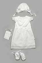 Крестильный комплект для девочки из льна (без крыжмы)
