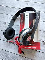 Навушники Dr. DRE Monster Solo HD (круглий шнур) Black/silver