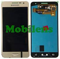 Samsung A300, A300F, Galaxy A3 (2015) Дисплей+тачскрин(модуль) золотистый Original (AMOLED)