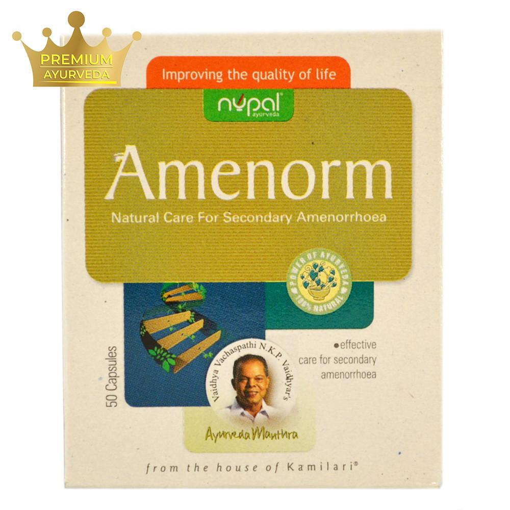Аменорм (Amenorm, Nupal Remedies) - регулирует менструальный цикл у женщин, от аменореи, 50 капсул