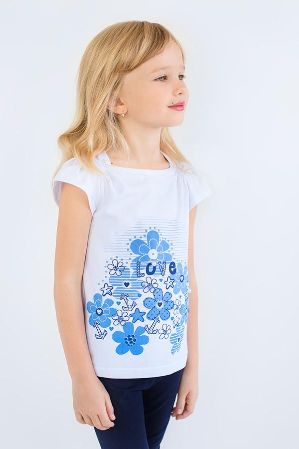 """Детская футболка для девочки """"Море"""""""