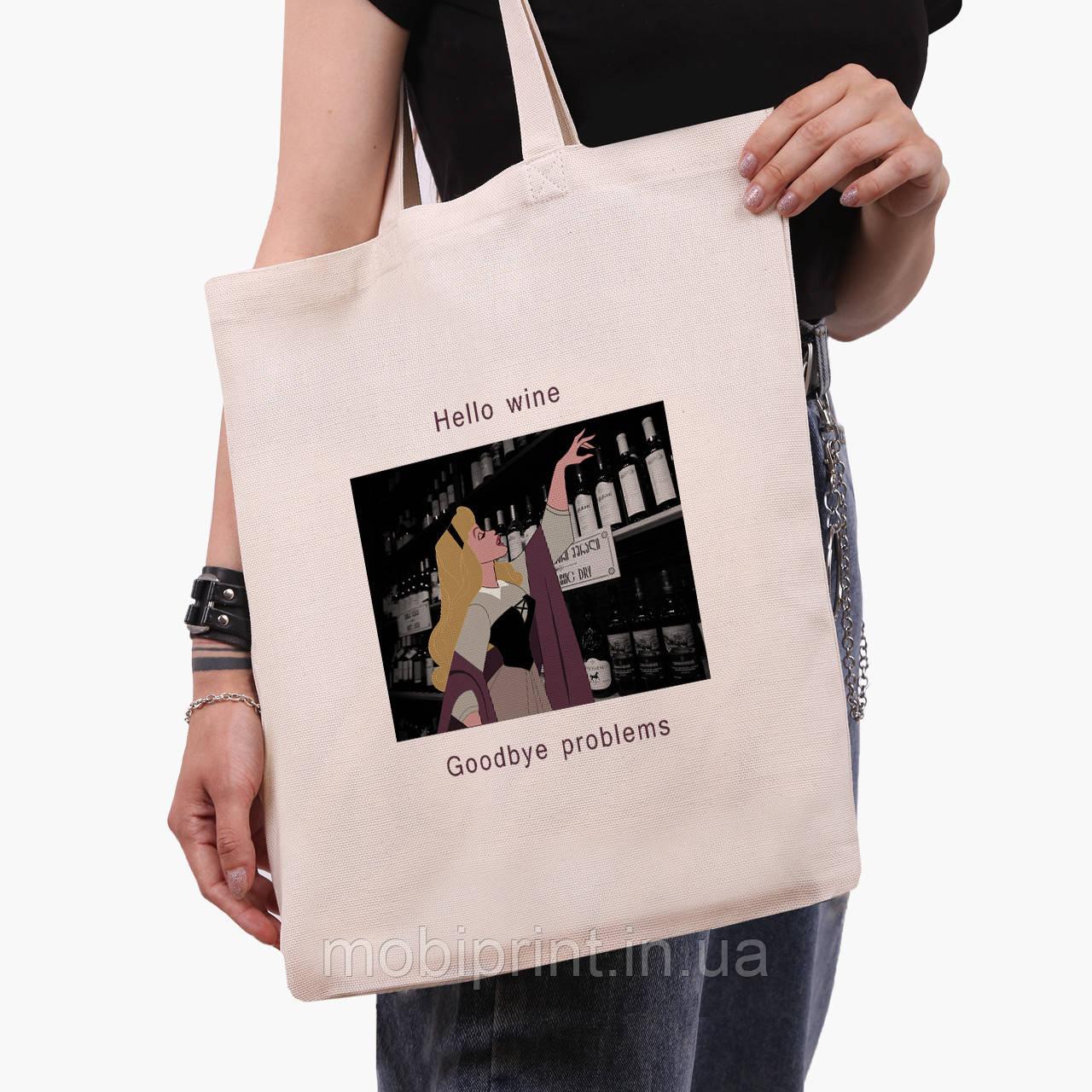 "Эко сумка шоппер Спящая красавица ""Дисней"" (Disney Sleeping Beauty) (9227-1432)  41*35 см"