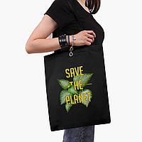 Эко сумка шоппер черная Экология (Ecology) (9227-1336-2) экосумка шопер 41*35 см