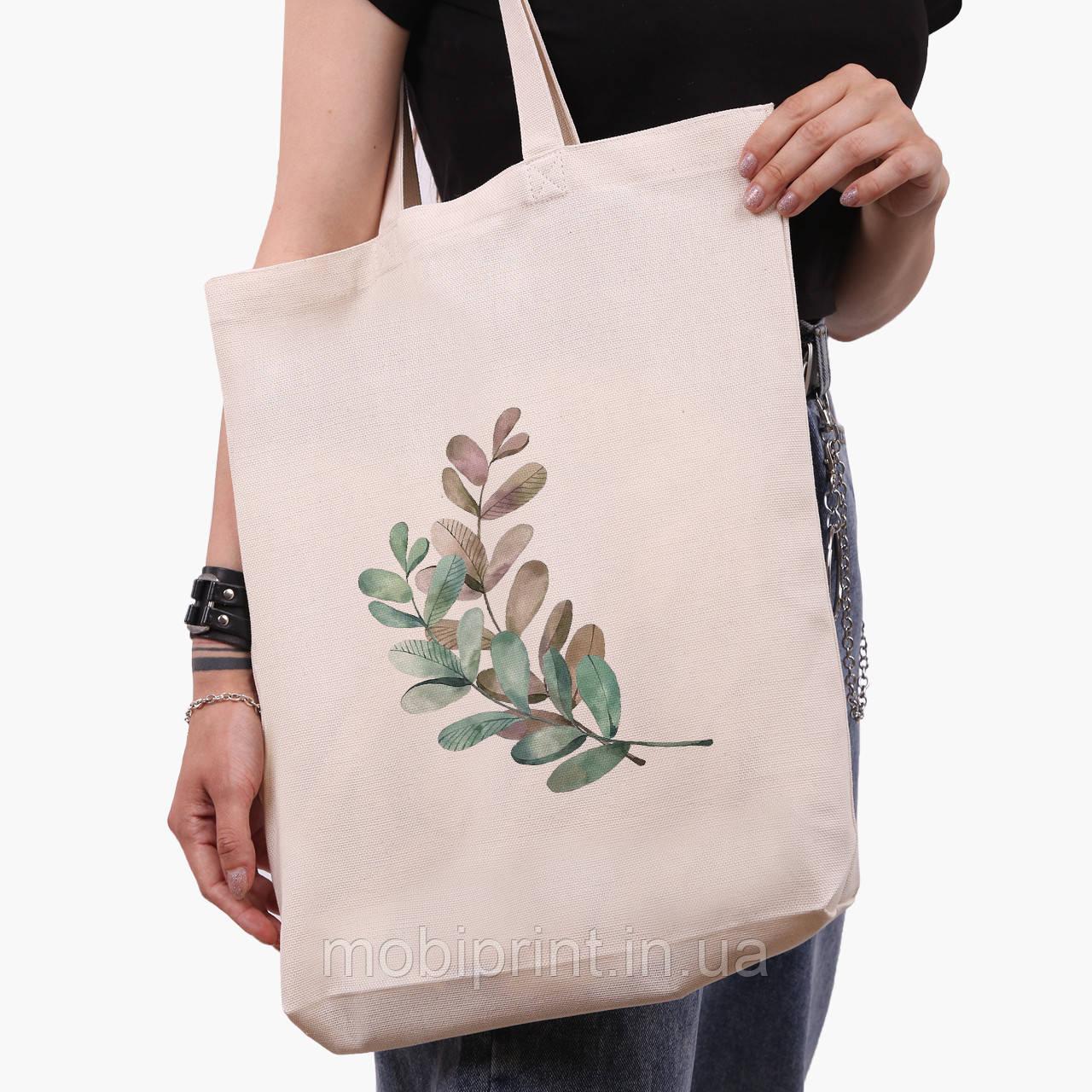 Эко сумка шоппер белая Экология (Ecology) (9227-1332-1)  экосумка шопер 41*39*8 см