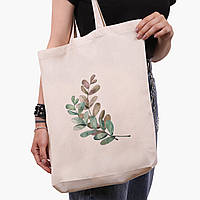 Эко сумка шоппер белая Экология (Ecology) (9227-1332-1)  экосумка шопер 41*39*8 см , фото 1