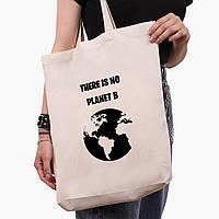 Эко сумка шоппер белая Экология (Ecology) (9227-1333-1)  экосумка шопер 41*39*8 см, фото 1