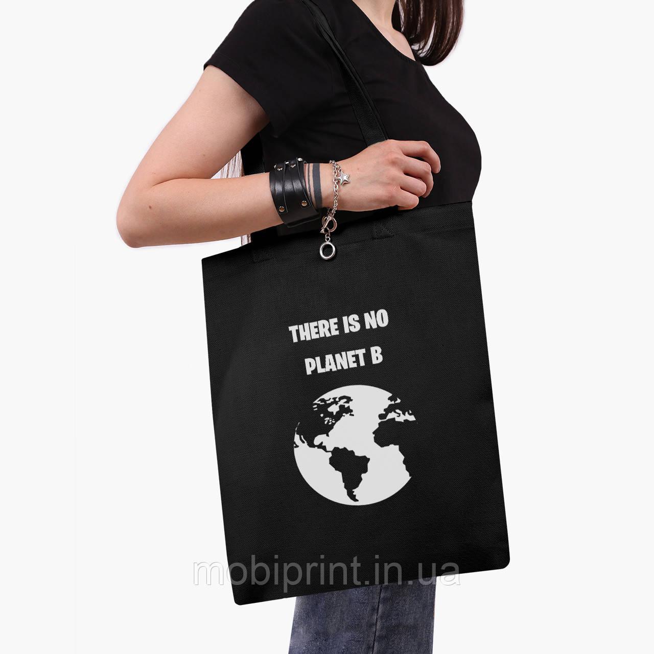 Эко сумка шоппер черная Экология (Ecology) (9227-1333-2)  экосумка шопер 41*35 см
