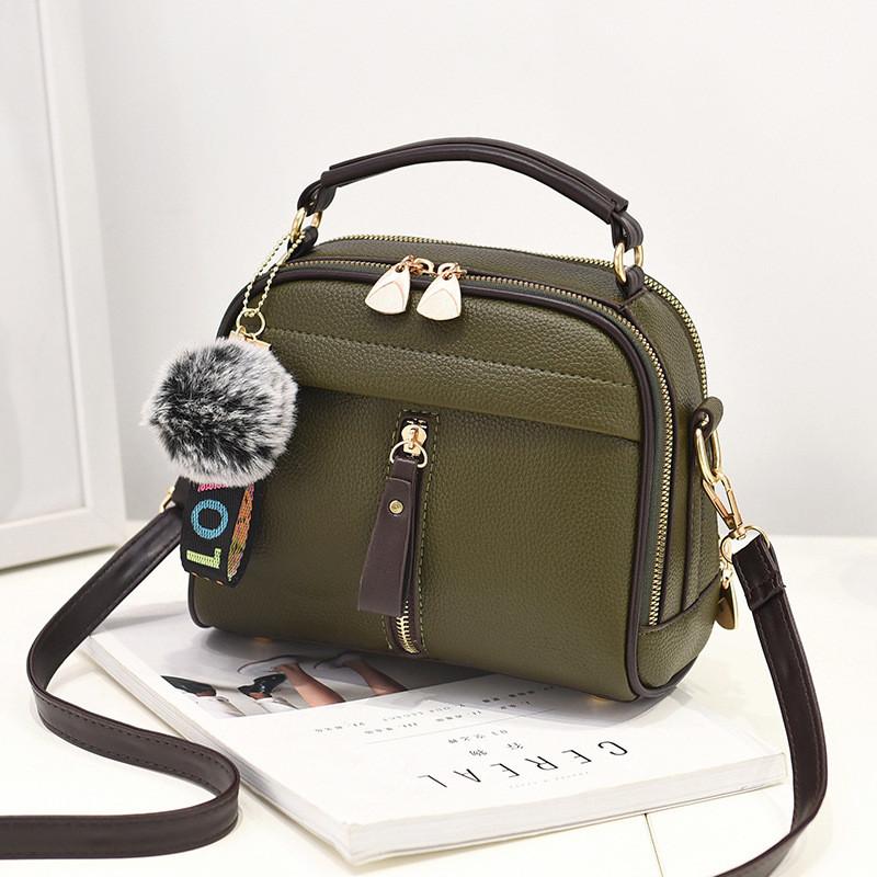 Женская сумка на молнии кросс-боди, зеленая сумка через плечо среднего размера, Сумка из кожзама, FS-4554-40