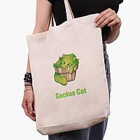 Эко сумка шоппер белая Экология (Ecology) (9227-1335-1)  экосумка шопер 41*39*8 см , фото 1