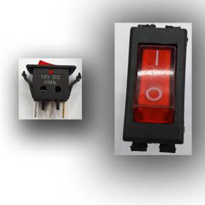 Кнопка узкая утолщенная 3 контакта 220V для сетевого фильтра