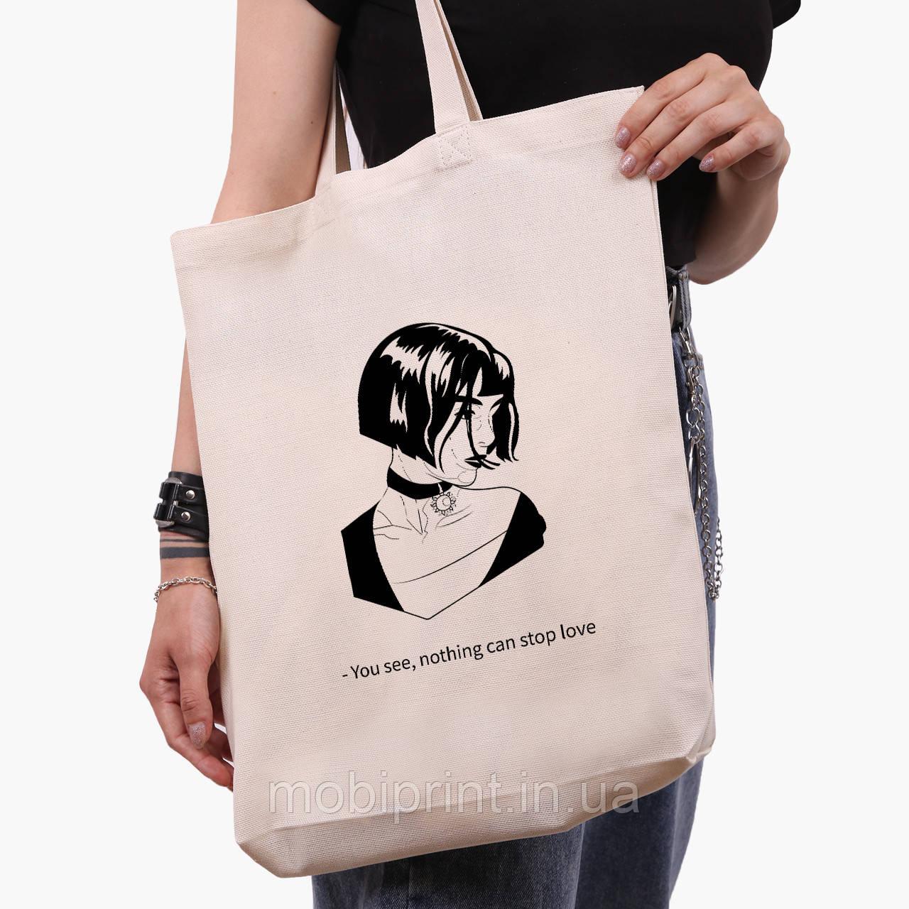 Эко сумка шоппер белая Леон киллер (Leon) (9227-1450-1)  экосумка шопер 41*39*8 см