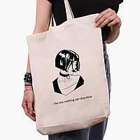 Эко сумка шоппер белая Леон киллер (Leon) (9227-1450-1)  экосумка шопер 41*39*8 см , фото 1