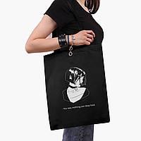 Еко сумка шоппер чорна Леон кілер (Leon) (9227-1450-2) экосумка шопер 41*35 см, фото 1