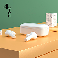 Bluetooth-гарнитура 4you FRIEND white (сенсор, v5.0 TWS, QCY T5, РРЦ 760грн)