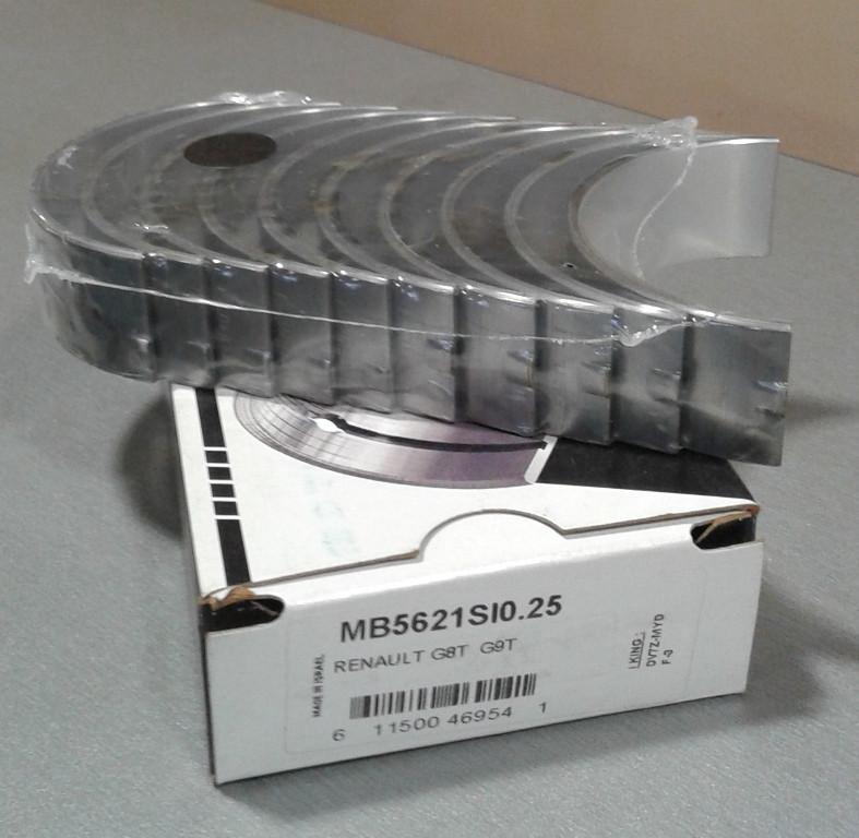 Вкладыши коренные Opel Movano 2,2CDTI 2,5CDTI 0,25
