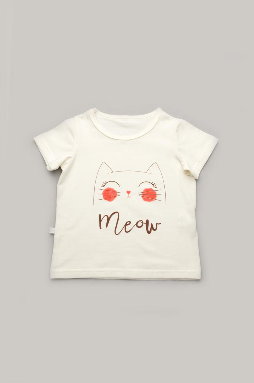 """Детская футболка для девочки """"Мяу"""""""
