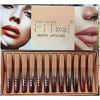 Набор матовых помад MAYBELLINE Fit ME Matte Lip Gloss Ready Stock