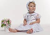 Комплект крестильный для девочки с гипюром, фото 2