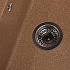Кухонна мийка гранітна Jorum 78 (780*510*217) Teracotă (701) ТМ Galati, фото 10