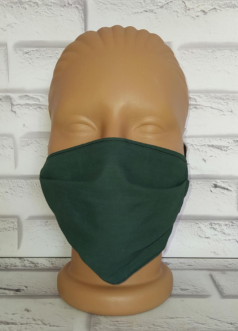 Защитная маска однотонная многоразовая тканевая хлопок