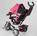 Трехколесный велосипед розовый с ручкой Best Trike 6588, фото 3