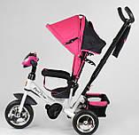 Трехколесный велосипед розовый с ручкой Best Trike 6588, фото 2