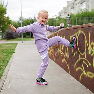 Теплый Костюм Для девочек Украина Фиолетовый Размеры: 110-116; 122-128; 134-140