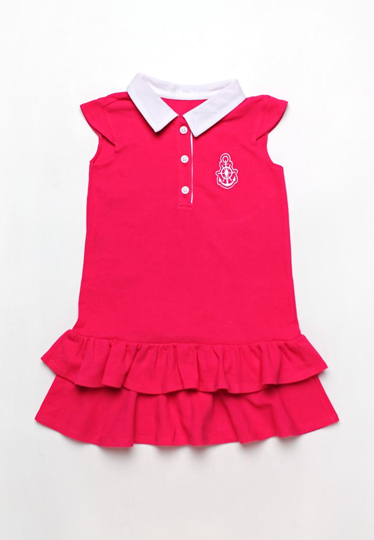 Платье для девочки из лакосты с волнами