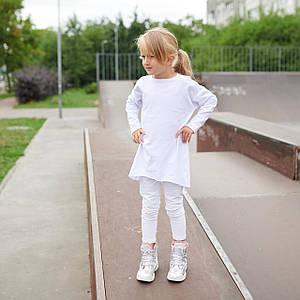 Кофта Лонгслив Для девочек Украина Белый Размеры: 110-116; 122-128; 134-140; 146-152
