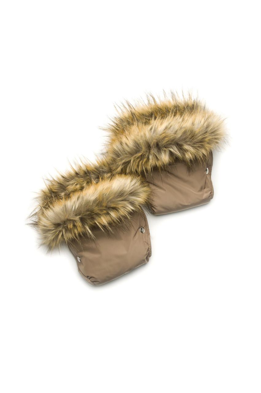 Рукавички для коляски/санок с меховой опушкой