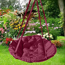 Подвесное кресло гамак для дома и сада 96 х 120 см до 200 кг бордового цвета