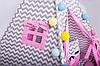 Вигвам Хатка комплект Бонбон Мечта Розовый с серым, фото 3