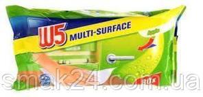 Влажные салфетки для уборки W5  (Яблоко) 80 шт Германия