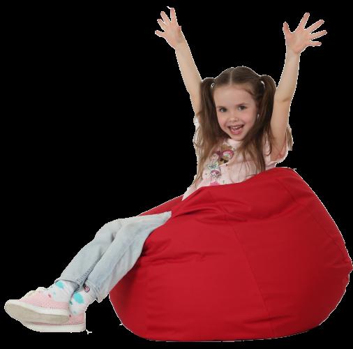 Кресло-мешок Груша Хатка средняя Красная (подростковая)