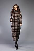 Пуховик женский зимний длинный бронзовый на изософте Marshal Wolf MO-76 (0076)