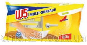 Влажные салфетки для уборки W5  (Лимон) 80 шт Германия