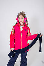 Детский зимний комплект для девочки Верхняя одежда для девочек BRUGI Италия YK4U Красный 128