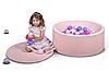 Бассейн для дома сухой, детский, нежно-розовый, фото 3
