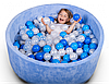 Бассейн для дома сухой, детский, синий, фото 3