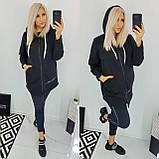 Кардиган женский спортивный теплый батал. Цвет: мокко, джинс, чёрный. Размер: 48-50, 52-54, 56-58., фото 5