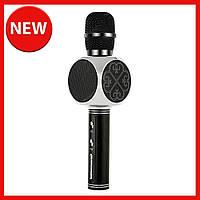 Караоке микрофон детский портативный беспроводной Bluetooth USB Черный Black Игрушка микрофоны для детей YS-63