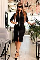 Сексуальное платье из замша, декорировано молниями с 42 по 56 размер, фото 1