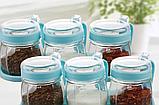 Набір банок для сипких продуктів, 3шт. 10,5*11,5*7,5 см (0.9 л.), фото 7