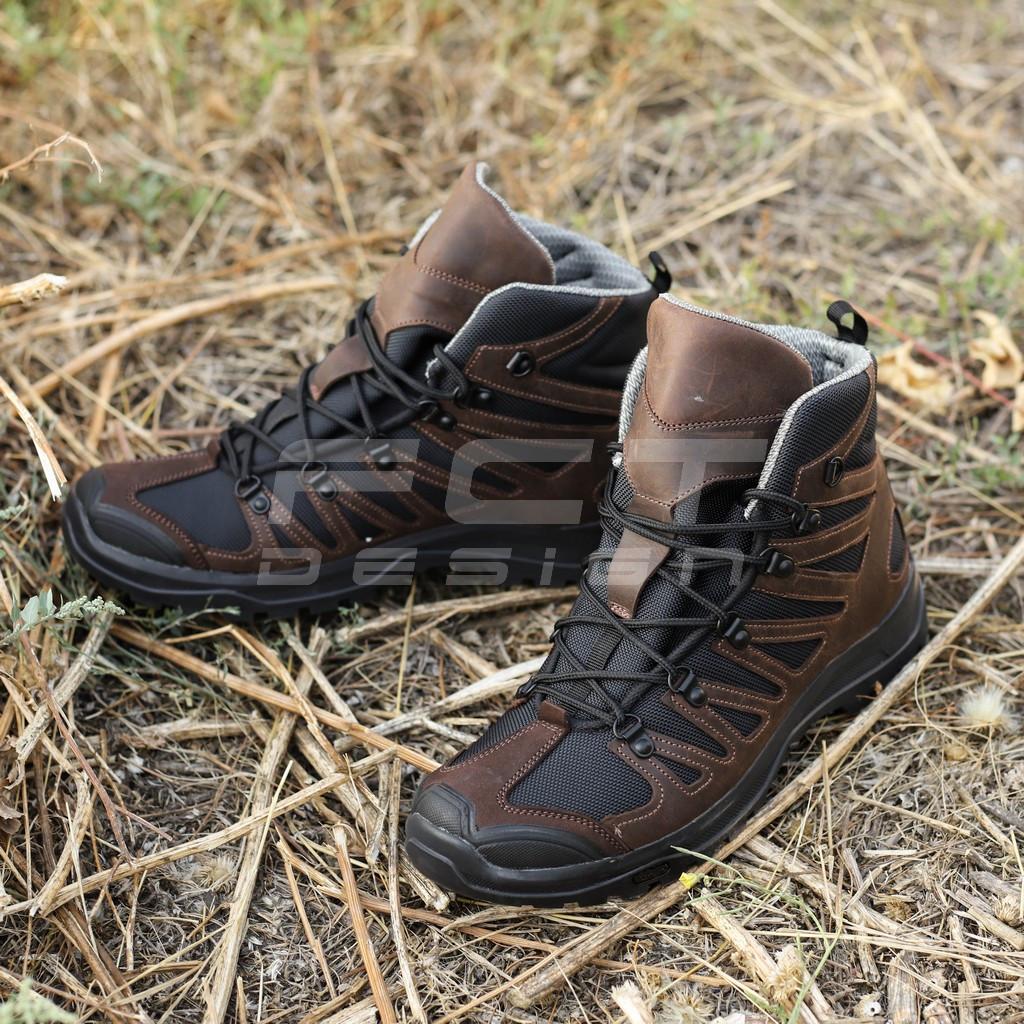 Ботинки тактические Викинг кожа Crazy horse коричневые