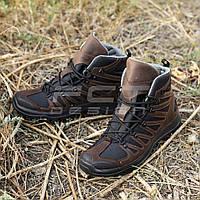 Ботинки тактические Викинг кожа Crazy horse коричневые, фото 1