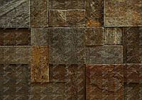 "Камень Сланец ""Медвежья Шкура"" KLVIV торцованая кладка (композиция) 10х10см/10х20см/20х20см"